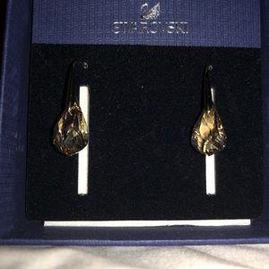 81a516358 Swarovski Jewelry - Swarovski Energic pierced earrings, Gold Plating